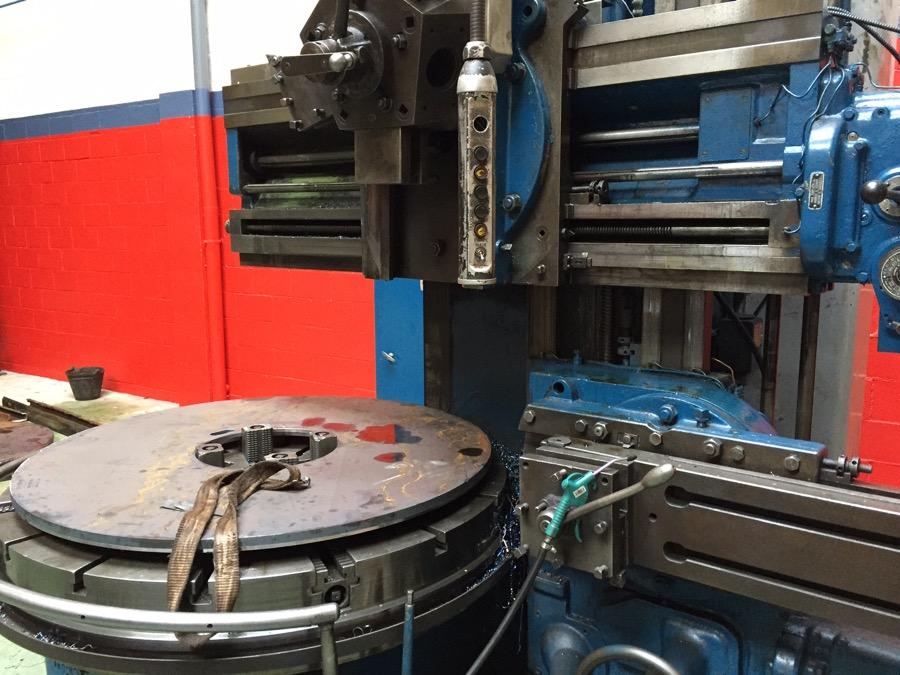 Mecanizado pieza de diametro 1500 mm