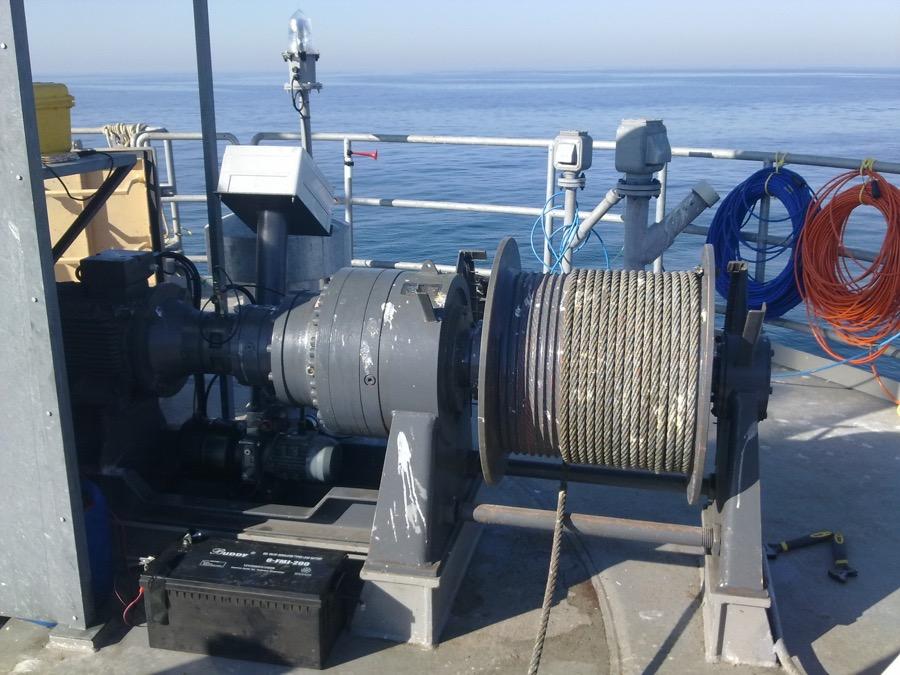 Mantenimiento chigres en plataformas eolicas